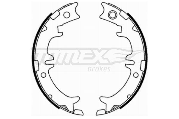 TOMEX brakes: Original Bremsbelagsatz Trommelbremse TX 21-76 (Breite: 45mm)