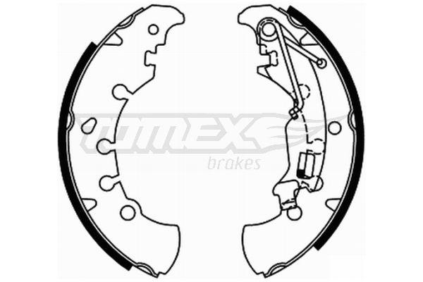 2184 TOMEX brakes Hinterachse, Ø: 203mm Breite: 38mm Bremsbackensatz TX 21-84 günstig kaufen