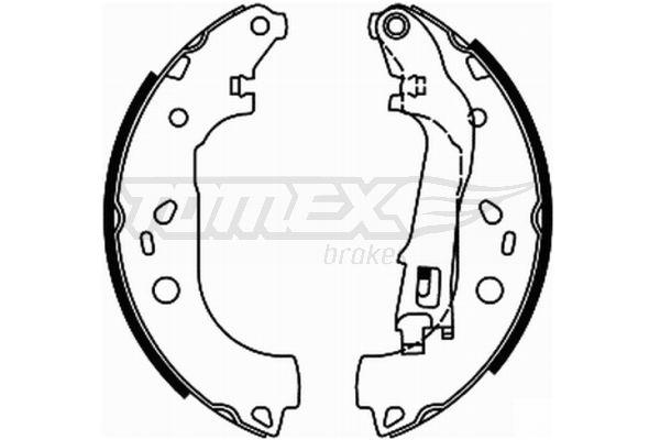 TOMEX brakes Bremsbackensatz TX 21-98