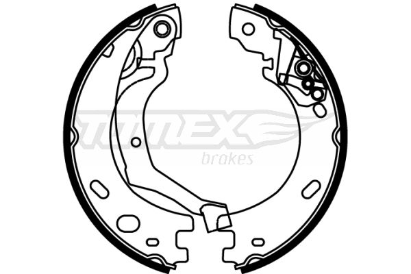 TOMEX brakes: Original Bremsbeläge für Trommelbremsen TX 22-22 (Breite: 30mm)