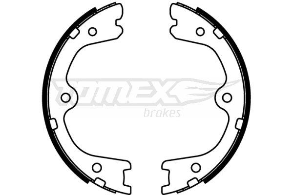 NISSAN MURANO 2015 Bremsbacken - Original TOMEX brakes TX 22-23 Breite: 32mm