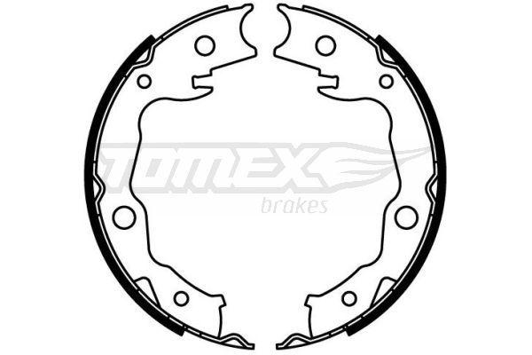 OE Original Bremsklötze für Trommelbremse TX 22-24 TOMEX brakes