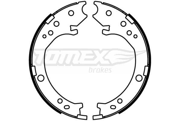 TOMEX brakes: Original Bremsbackensatz TX 22-51 (Breite: 200mm)