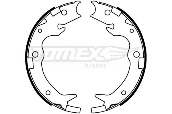 TOMEX brakes: Original Trommelbremsbacken TX 22-65 (Breite: 35mm)