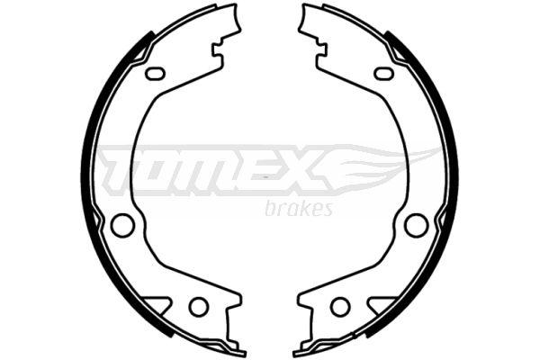 TOMEX brakes: Original Bremsbackensatz für Trommelbremse TX 22-68 (Breite: 170, 27mm)