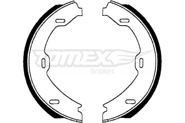 MERCEDES-BENZ S-Klasse 2009 Bremsbackensatz für Trommelbremse - Original TOMEX brakes TX 22-69 Breite: 25mm