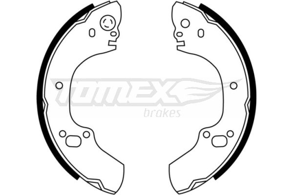 2288 TOMEX brakes Hinterachse, Ø: 295mm Breite: 45mm Bremsbackensatz TX 22-88 günstig kaufen