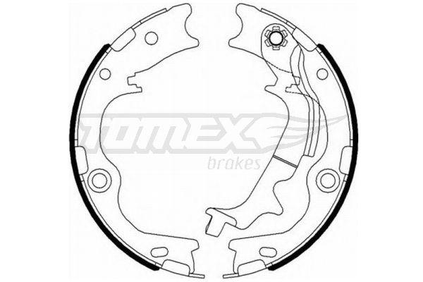 TOMEX brakes: Original Bremsbelagsatz Trommelbremse TX 23-12 (Breite: 38mm)