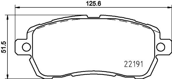 Original FORD Bremsbelagsatz 8DB 355 031-721