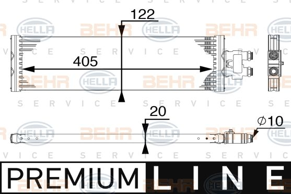 MERCEDES-BENZ VITO 2019 Automatikgetriebe Ölkühler - Original HELLA 8MO 376 745-521