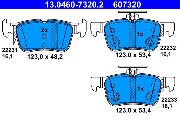 13.0460-7320.2 Bremssteine ATE in Original Qualität