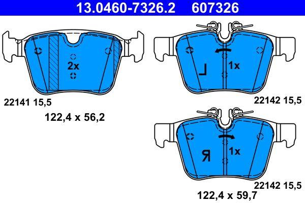13.0460-7326.2 Bremssteine ATE in Original Qualität