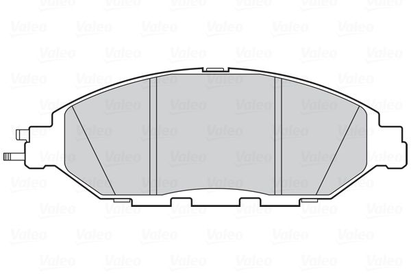Bremsbelagsatz Scheibenbremse VALEO 302321