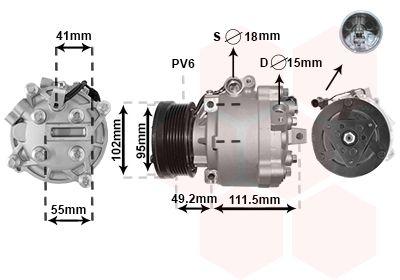 Original MITSUBISHI Kompressor Klimaanlage 3201K701