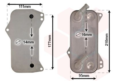 Getriebeölkühler VAN WEZEL 58013709