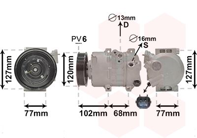 Original MITSUBISHI Kompressor 8201K713