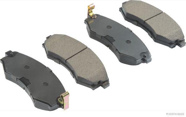 J3600312 HERTH+BUSS JAKOPARTS mit akustischer Verschleißwarnung, mit Anti-Quietsch-Blech Höhe 1: 52,3mm, Höhe 2: 52,3mm, Breite 1: 137mm, Breite 2: 137mm, Dicke/Stärke 1: 17mm, Dicke/Stärke 2: 17mm Bremsbelagsatz, Scheibenbremse J3600312 günstig kaufen