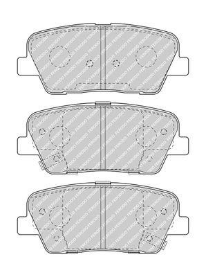 SSANGYONG MUSSO 2015 Bremsklötze - Original FERODO FDB4391 Höhe 1: 49mm, Dicke/Stärke 1: 15,5mm, Dicke/Stärke: 15,9mm
