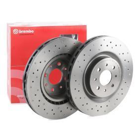 Купете BREMBO надупчен/ вътр. вентилиран, с покритие, високовъглеродна, с винтове Ø: 305мм, брой на дупките: 4, дебелина на спирачния диск: 28мм Спирачен диск 09.8004.4X евтино