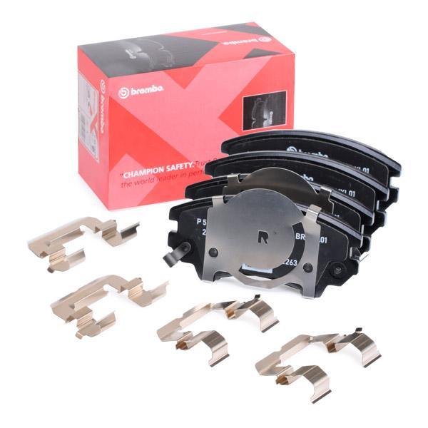 BREMBO: Original Bremsbelagsatz P 59 055X (Höhe: 61,7mm, Breite: 142,1mm, Dicke/Stärke: 19,1mm)