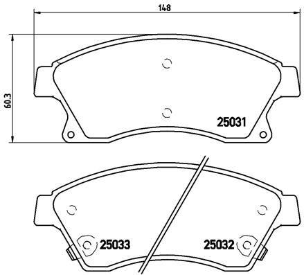 Bremsbelagsatz BREMBO P 59 076X