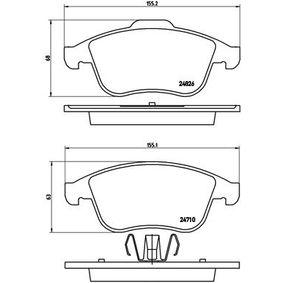 P68047X Bremsbelagsatz, Scheibenbremse BREMBO Erfahrung