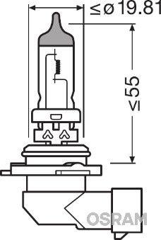 Крушка с нагреваема жичка, фар за дълги светлини OSRAM 9006NL Отзиви