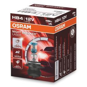 Купете HB4 OSRAM 51ват, HB4, 12волт Крушка с нагреваема жичка, фар за дълги светлини 9006NL евтино