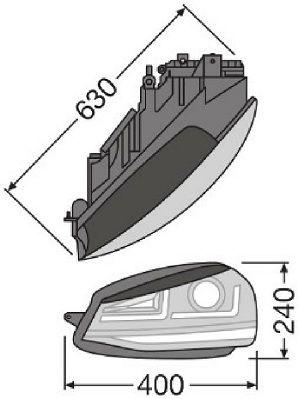 Φανάρια αυτοκινήτων LEDHL103-GTI OSRAM — μόνο καινούργια ανταλλακτικά
