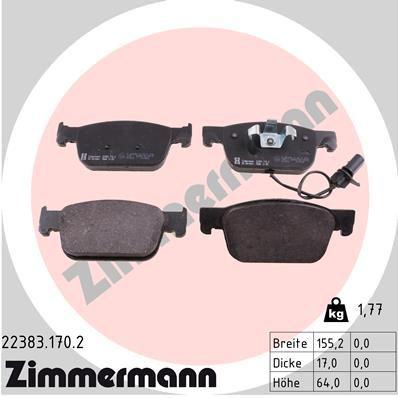 Bremsbelagsatz ZIMMERMANN 22383.170.2