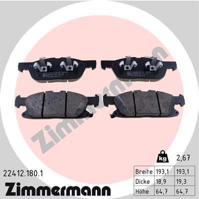 Original FORD Bremsbelagsatz Scheibenbremse 22412.180.1