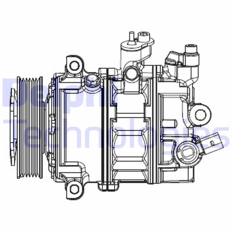 Original VW Kompressor Klimaanlage CS20529