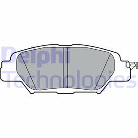 D18469073 DELPHI nicht für Verschleißwarnanzeiger vorbereitet Höhe: 42mm, Dicke/Stärke 1: 15mm Bremsbelagsatz, Scheibenbremse LP3394 günstig kaufen