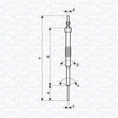 SUBARU WRX Glühkerzen - Original MAGNETI MARELLI 062900129304 Länge über Alles: 155mm, Gewindemaß: M10X1