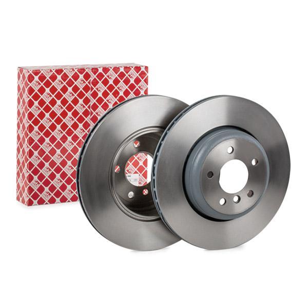 104807 FEBI BILSTEIN Hinterachse, Innenbelüftet, beschichtet, hochgekohlt Ø: 345,0mm, Bremsscheibendicke: 24mm Bremsscheibe 104807 günstig kaufen