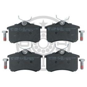 20961 OPTIMAL Hinterachse, mit Bremssattelschrauben Breite: 52,8mm, Dicke/Stärke: 17,2mm Bremsbelagsatz, Scheibenbremse BP-10066 günstig kaufen