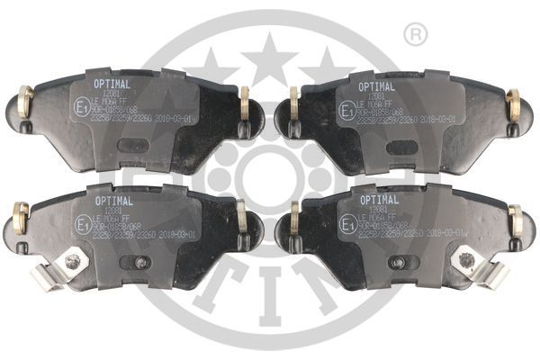 Bremsbelagsatz OPTIMAL BP-12081