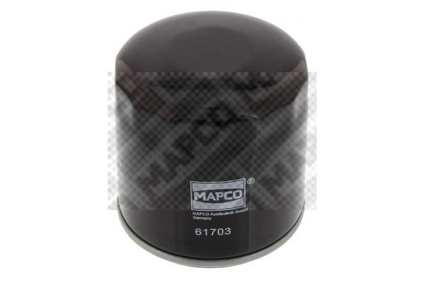 Opel KARL 2018 Oil filter MAPCO 61703: Screw-on Filter