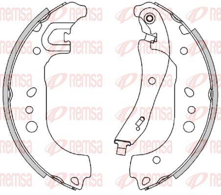 SEAT ARONA Trommelbremsbacken - Original REMSA 4495.00 Breite: 42,2mm
