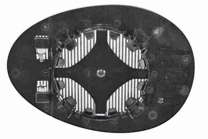 Vetro specchio retrovisore V20-69-0026 VEMO — Solo ricambi nuovi
