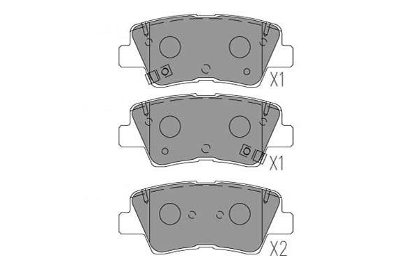 Brake pad set KBP-3053 KAVO PARTS — only new parts