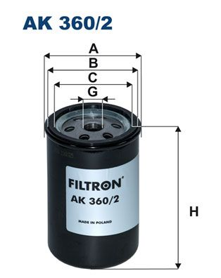 FILTRON Air Filter for DAF - item number: AK 360/2
