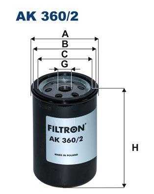 AK 360/2 FILTRON Luftfilter till TERBERG-BENSCHOP YT - köp dem nu