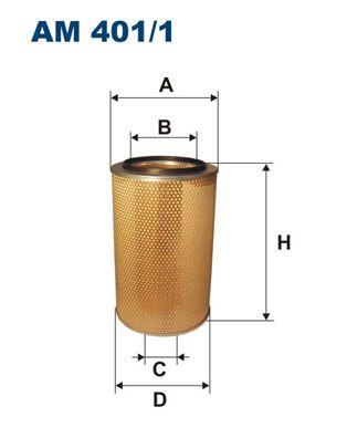 FILTRON Luftfilter für IVECO - Artikelnummer: AM 401/1