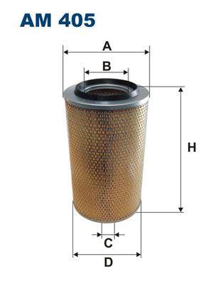 AM 405 FILTRON Filtereinsatz Höhe: 381mm Luftfilter AM 405 günstig kaufen