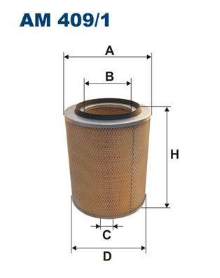 FILTRON Luftfilter für IVECO - Artikelnummer: AM 409/1