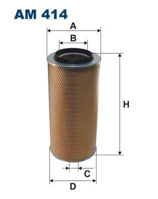 AM 414 FILTRON Filtereinsatz Höhe: 353mm Luftfilter AM 414 günstig kaufen