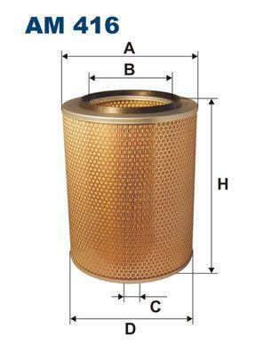 FILTRON Filtr powietrza do DAF - numer produktu: AM 416