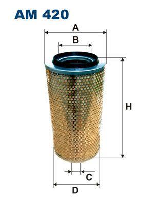 Αγοράστε FILTRON Φίλτρο αέρα AM 420 για RENAULT TRUCKS σε οικονομικές τιμές