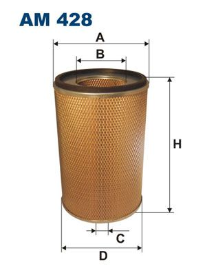 FILTRON Filtr powietrza do RENAULT TRUCKS - numer produktu: AM 428